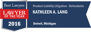 Kathleen A. Lang has earned a Lawyer of the Year award for 2016!
