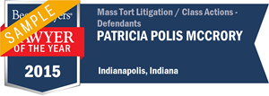 Patricia Polis McCrory has earned a Lawyer of the Year award for 2015!