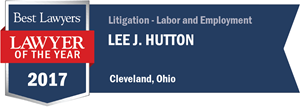 Lee J. Hutton has earned a Lawyer of the Year award for 2017!