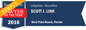 Scott J. Link has earned a Lawyer of the Year award for 2016!
