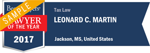 Leonard C. Martin has earned a Lawyer of the Year award for 2017!