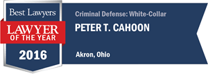 Peter T. Cahoon has earned a Lawyer of the Year award for 2016!