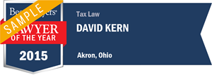 David Kern has earned a Lawyer of the Year award for 2015!