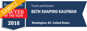 Beth Shapiro Kaufman has earned a Lawyer of the Year award for 2016!