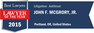 John F. McGrory, Jr. has earned a Lawyer of the Year award for 2015!