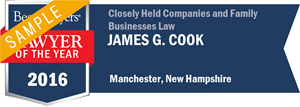 James G. Cook has earned a Lawyer of the Year award for 2016!