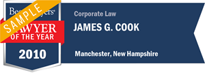 James G. Cook has earned a Lawyer of the Year award for 2010!