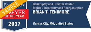 Brian T. Fenimore has earned a Lawyer of the Year award for 2017!