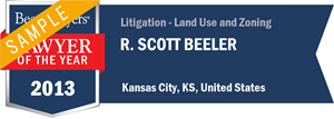 R. Scott Beeler has earned a Lawyer of the Year award for 2013!