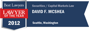David F. McShea has earned a Lawyer of the Year award for 2012!