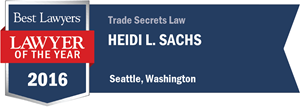 Heidi L. Sachs has earned a Lawyer of the Year award for 2016!