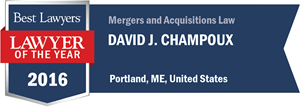 David J. Champoux has earned a Lawyer of the Year award for 2016!