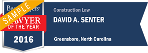 David A. Senter has earned a Lawyer of the Year award for 2016!