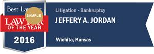 Jeffery A. Jordan has earned a Lawyer of the Year award for 2016!