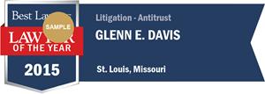 Glenn E. Davis has earned a Lawyer of the Year award for 2015!