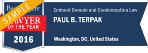 Paul B. Terpak has earned a Lawyer of the Year award for 2016!