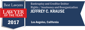 Jeffrey C. Krause has earned a Lawyer of the Year award for 2017!