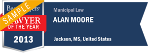 Alan Moore has earned a Lawyer of the Year award for 2013!