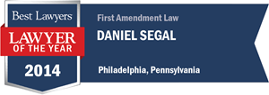 Daniel Segal has earned a Lawyer of the Year award for 2014!