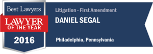 Daniel Segal has earned a Lawyer of the Year award for 2016!