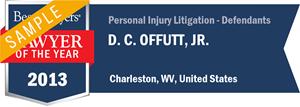 D. C. Offutt, Jr. has earned a Lawyer of the Year award for 2013!