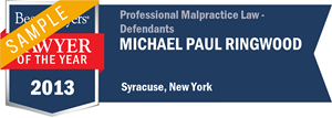 Michael Paul Ringwood has earned a Lawyer of the Year award for 2013!