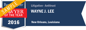 Wayne J. Lee has earned a Lawyer of the Year award for 2016!