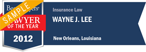 Wayne J. Lee has earned a Lawyer of the Year award for 2012!