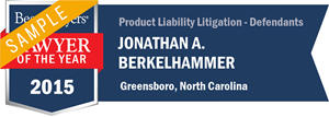 Jonathan A. Berkelhammer has earned a Lawyer of the Year award for 2015!