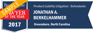 Jonathan A. Berkelhammer has earned a Lawyer of the Year award for 2017!