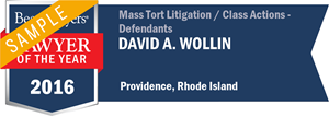 David A. Wollin has earned a Lawyer of the Year award for 2016!