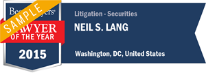 Neil S. Lang has earned a Lawyer of the Year award for 2015!
