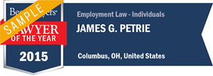 James G. Petrie has earned a Lawyer of the Year award for 2015!