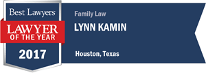 Lynn Kamin has earned a Lawyer of the Year award for 2017!