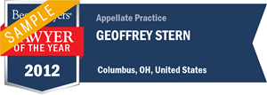 Geoffrey Stern has earned a Lawyer of the Year award for 2012!