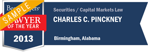 Charles C. Pinckney has earned a Lawyer of the Year award for 2013!