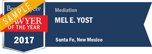 Mel Yost has earned a Lawyer of the Year award for 2017!