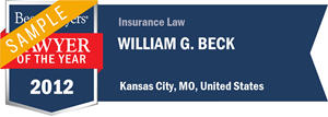 William G. Beck has earned a Lawyer of the Year award for 2012!