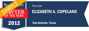 Elizabeth A. Copeland has earned a Lawyer of the Year award for 2012!