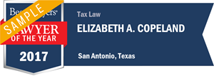 Elizabeth A. Copeland has earned a Lawyer of the Year award for 2017!