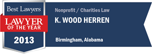 K. Wood Herren has earned a Lawyer of the Year award for 2013!