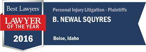 B. Newal Squyres has earned a Lawyer of the Year award for 2016!