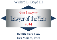 The Best Lawyers in America®, Lawyer of the Year, Health Care Law, Des Moines, 2014