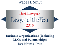 The Best Lawyers in America®, Lawyer of the Year, Business Organizations, Des Moines, 2015