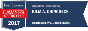 Julia A. Chincheck has earned a Lawyer of the Year award for 2017!