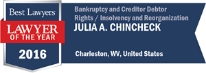 Julia A. Chincheck has earned a Lawyer of the Year award for 2016!