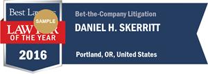 Daniel H. Skerritt has earned a Lawyer of the Year award for 2016!