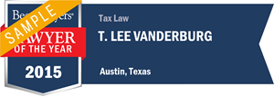 T. Lee Vanderburg has earned a Lawyer of the Year award for 2015!