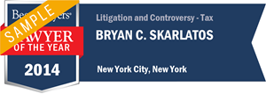 Bryan C. Skarlatos has earned a Lawyer of the Year award for 2014!