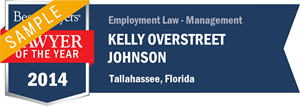Kelly Overstreet Johnson has earned a Lawyer of the Year award for 2014!
